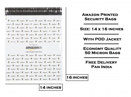 AM3 - 14 x 16 Amazon Printed Tamper Proof Security Bag (WITH POD JACKET) - Free Shipping